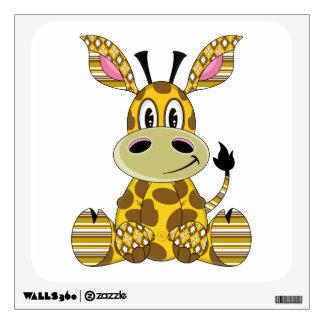 Cute Patchwork Giraffe Wall Decal