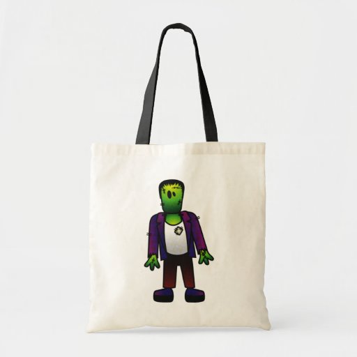 CUTE PATCHY FRANKENSTEIN CANVAS BAG