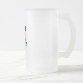 CUTE PATCHY KNIFE-WIELDING KILLER 16 OZ FROSTED GLASS BEER MUG