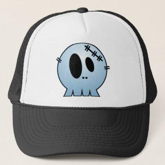 CUTE PATCHY SKULL - BLUE TRUCKER HAT