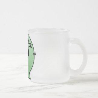 CUTE PATCHY SKULL - GREEN COFFEE MUGS