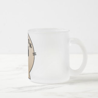CUTE PATCHY SKULL - ORANGE COFFEE MUGS