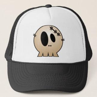 CUTE PATCHY SKULL - ORANGE TRUCKER HAT