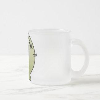 CUTE PATCHY SKULL - YELLOW COFFEE MUG
