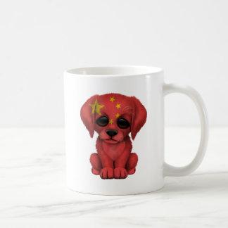 Cute Patriotic Chinese Flag Puppy Dog Coffee Mug