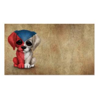 Cute Patriotic Czech Republic Puppy Dog Rough Business Card Templates