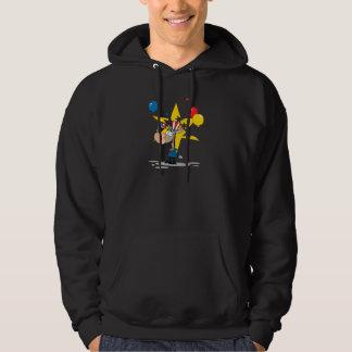 cute patriotic democratic donkey silly cartoon hoodie