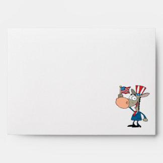 cute patriotic donkey cartoon democrat envelopes