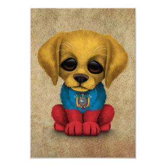 Cute Patriotic Ecuadorian Flag Puppy Dog, Rough Card