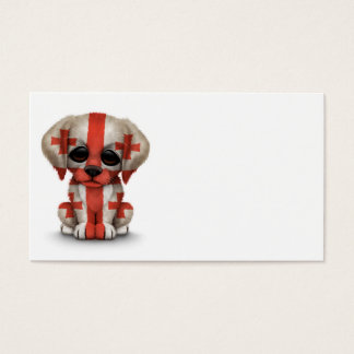Cute Patriotic Georgian Flag Puppy Dog Business Card
