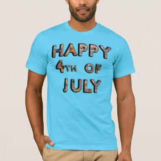 Cute Patriotic Happy 4th of July T Shirt