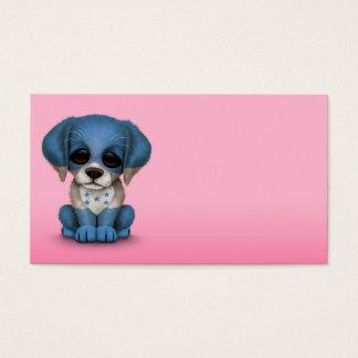 Cute Patriotic Honduran Flag Puppy Dog, Pink Business Card