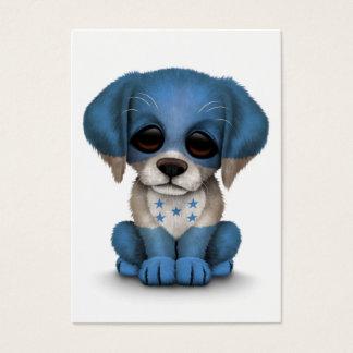 Cute Patriotic Honduran Flag Puppy Dog, White Business Card