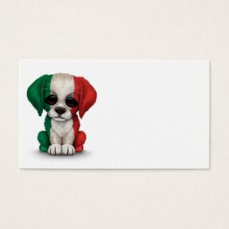 Cute Patriotic Italian Flag Puppy Dog Business Card