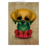 Cute Patriotic Lithuanian Flag Puppy Dog, Rough Greeting Cards
