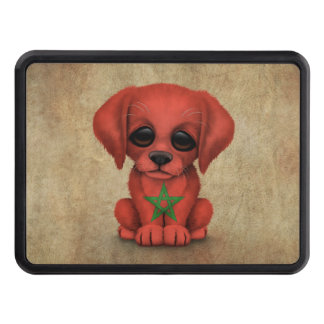 Cute Patriotic Moroccan Flag Puppy Dog Rough Hitch Covers