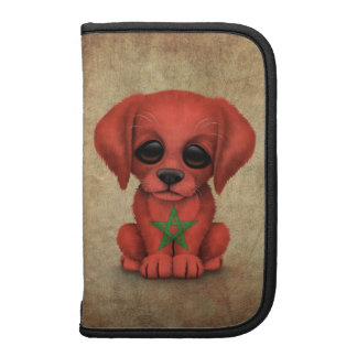 Cute Patriotic Moroccan Flag Puppy Dog Rough Planners