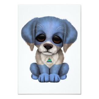 Cute Patriotic Nicaraguan Flag Puppy Dog Card
