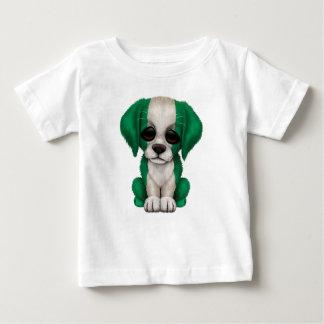 Cute Patriotic Nigerian Flag Puppy Dog Baby T-Shirt