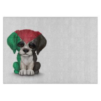 Cute Patriotic Palestinian Flag Puppy Dog Cutting Board
