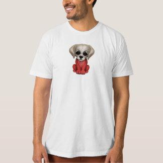 Cute Patriotic Polish Flag Puppy Dog T-Shirt