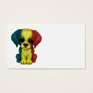 Cute Patriotic Romanian Flag Puppy Dog Business Card