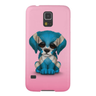 Cute Patriotic Scottish Flag Puppy Dog, Pink Galaxy S5 Case