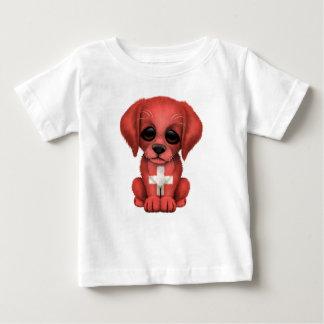 Cute Patriotic Swiss Flag Puppy Dog Tshirt