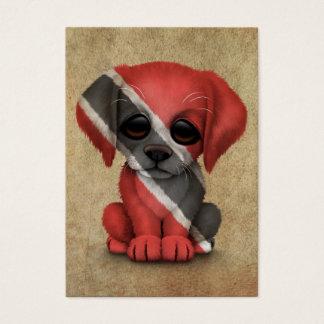 Cute Patriotic Trinidad and Tobago Puppy, Rough Business Card