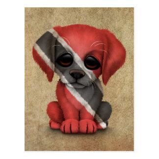 Cute Patriotic Trinidad and Tobago Puppy, Rough Postcard