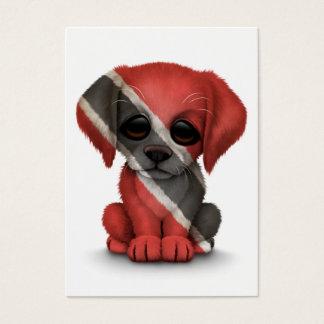 Cute Patriotic Trinidad and Tobago Puppy, White Business Card