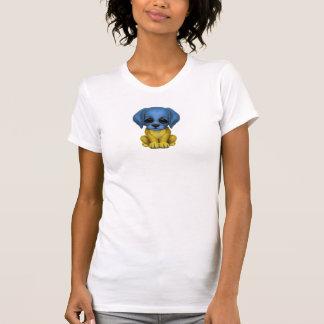Cute Patriotic Ukrainian Flag Puppy Dog T Shirts