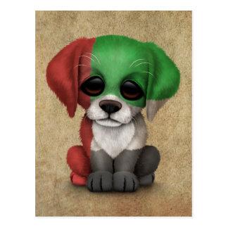 Cute Patriotic United Arab Emirates Puppy, Rough Postcard