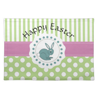 Cute pattern  Easter cartoon funny bunny Placemat