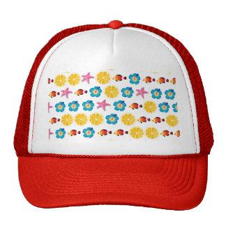 Cute pattern for kids trucker hat