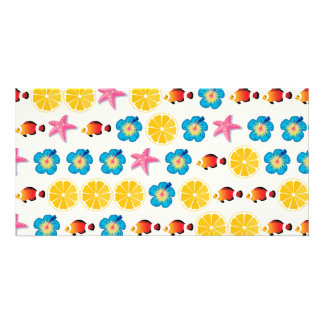 Cute pattern for kids personalized photo card