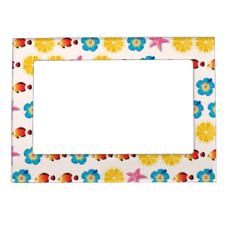 Cute pattern for kids picture frame magnets