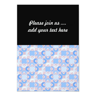 Cute Pattern in Shades of Blue Card