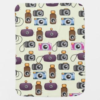 Cute Pattern of Cameras Stroller Blanket