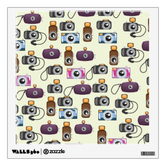 Cute Pattern of Cameras Wall Decal