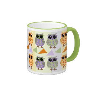 Cute Pattern Owls Mug