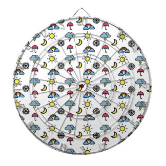 cute pattern weather dart board