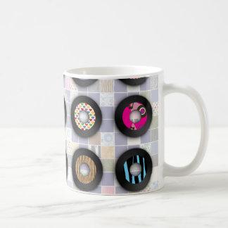 Cute Patterned 45 Records Coffee Mug