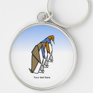 Cute Patterned Paper Penguins Keychain