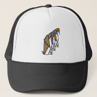 Cute Patterned Paper Penguins Trucker Hat
