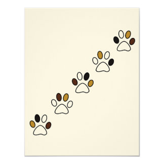 Cute Paw Invitation Card