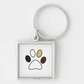 Cute Paw Premium Square Keychain