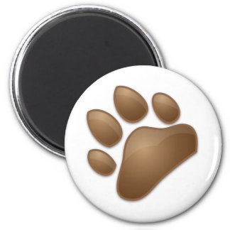 cute paw print 2 inch round magnet