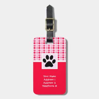 Cute Paw Print Travel Bag Tags