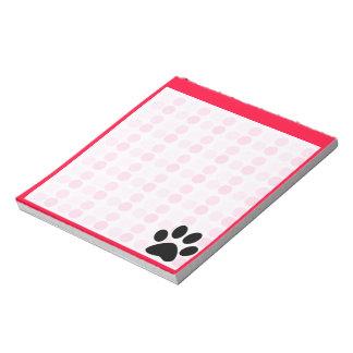 Cute Paw Print Memo Note Pads
